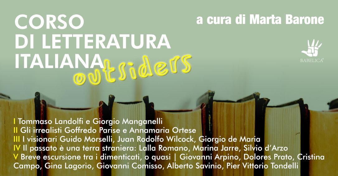 Corso di letteratura italiana a cura di Marta Barone